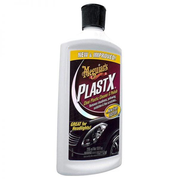 Clear Plastic car cleaner polish