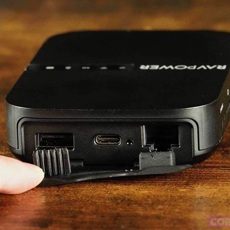 RAVPower Wireless FileHub Plus 3-Mode Portable Router with 6700mAh External Battery